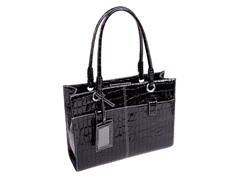 Elena Faux Leather Business Tote