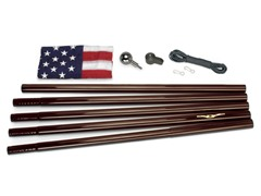 Bronze 18' Bronze In-Ground US Flag Kit