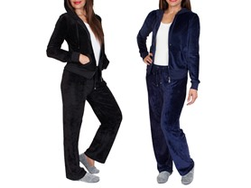 Agiato Women's Plush Velour Track Suit