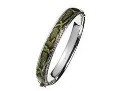 SS Green Snake Print Bangle
