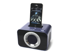 iLive Blue Clock Radio with 30-pin Dock