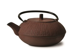 28 Ounce Cast Iron Tea Pot- Brown