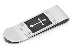 Stainless Steel Money Clip w/ Cross