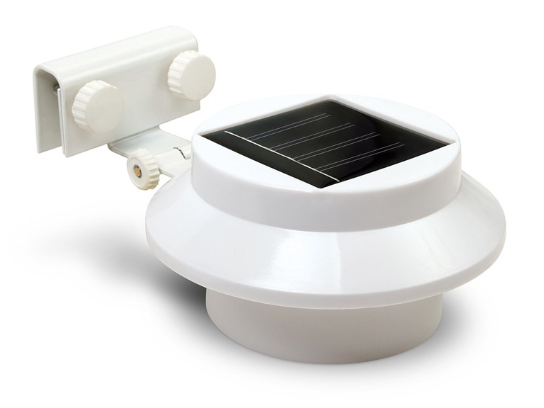 Triple Mount Solar Gutter Lights, 2 packs