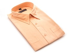 Oleg Cassini Men's Dress Shirt, Peach