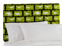 Upholstered Headboard Chartreuse/Black