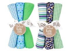 6-Piece Burp Cloth Set- Apple Berry