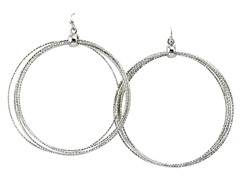 Silver Ring Loop Earrings
