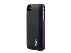uNu iPhone 4/4S Battery Case-Black/Purp