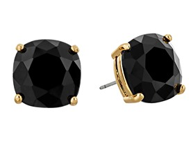 "kate spade new york ""Essentials"" Jet Small Square Studs"