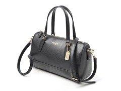 Coach Mini Satchel in Saffiano Leather, Black
