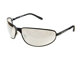 Rugged Safety Eyewear, Black/Silver Lens