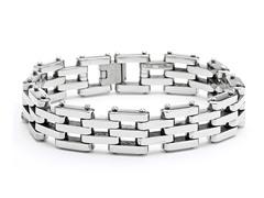 "Stainless Steel 8"" Link Bracelet"
