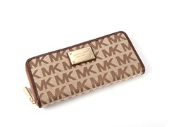 Michael Kors Zip Continental Wallet, Brown