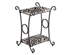 Animal Print Accent Table -  Zebra