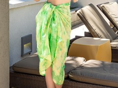 Tie-Dye Cotton Sarong Green & Yellow