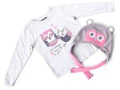 Girls Owl Hat & Tee