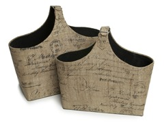 French Burlap Magazine Holders - 2