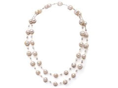 SS Freshwater & Crystals Pearl Necklace