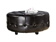 Bentley Round Bonded Leather Cocktail Ottoman