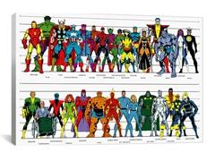 Comics (Retro) - Book Character Chart