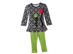 Tunic & Leggings Set - Blk/Wht (12M-6X)