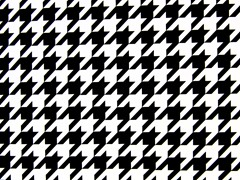 Wallpaper - Black/White Houndstooth