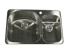 "31"" Drop In Kitchen Sink, Stainless"