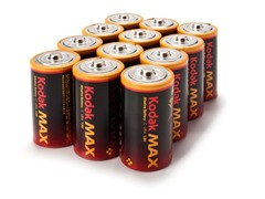 Kodak MAX C Alkaline Batteries- 12 Pack