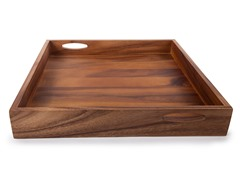 "Acacia 20"" Extra Large Square Tray"