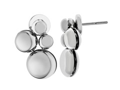 Stainless Steel Circular Charms Earrings