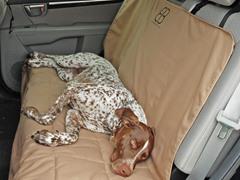 Motor Trend Rear Car Seat Protector, Tan