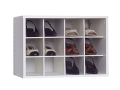 White 12-Compartment Closet Organizer