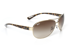 Oversized Aviator Sunglasses - Gold