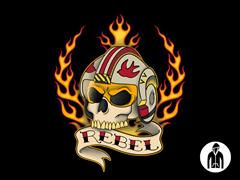 Rebel for Life Jersey Zip Hoodie