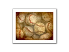 Baseballs 14x18 Rolled Canvas