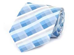 Silk Tie, Blue & White Checkers