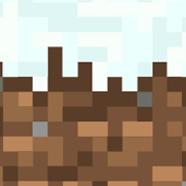 Snow Covered Minecraft block