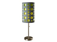 "33"" Grey-Yellow Table Lamp"