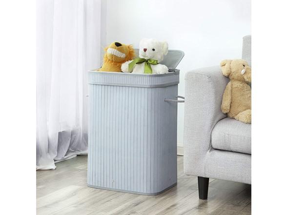 SONGMICS Bamboo Laundry Hamper