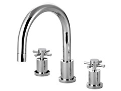 Tub Filler with Cross Handle, Chrome