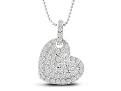 Swarovski Elements Floating Heart Necklace