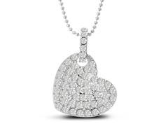 Swarovski Elements Floating Heart Necklace