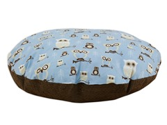 "Hooty Mist Putty  36"" Round Pet Bed"