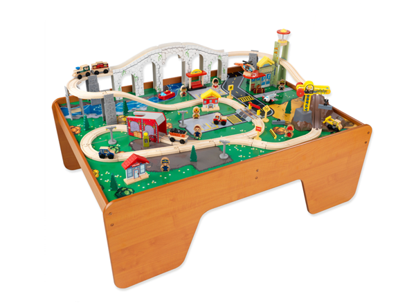 Kidkraft Train Town And Table Set 17492 Kids Toys