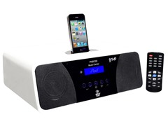200W AM/FM Clock Radio Speaker with iPod Dock