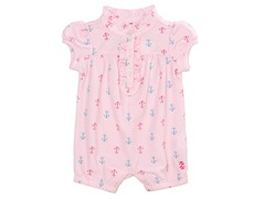 Pink & Blue Anchors Romper (0-12M)