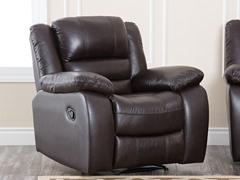 Kennedy Leather Recliner, Dk Truffle