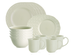 Whitaker 16-Piece Dinner Set Vanilla