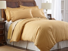 500TC Cotton Duvet Cover Set-Gold-2 Sizes